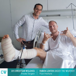Ruben Lenten under the weather, Pilon Fracture, Trauma Surgery, Doctor Christian Wilches