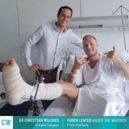 Ruben Lenten under the weather, Pilon Fracture, Trauma Surgery, Doctor Christian Wilches
